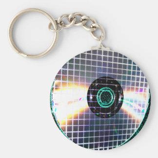 Shredded Disco Galaxy CD Basic Round Button Key Ring