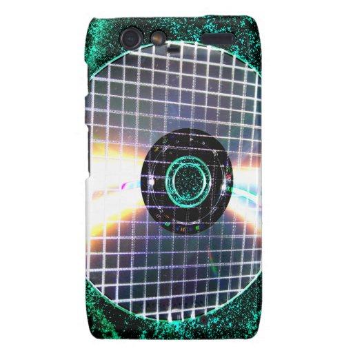 Shredded Disco Galaxy CD Motorola Droid RAZR Cases