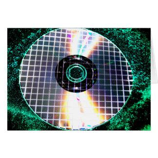 Shredded Disco Galaxy CD Greeting Card