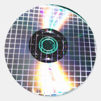 Shredded Disco Galaxy CD Classic Round Sticker
