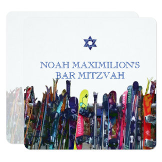 Shreddin' the Gnar! Snowboarding Mitzvah/DIY Card
