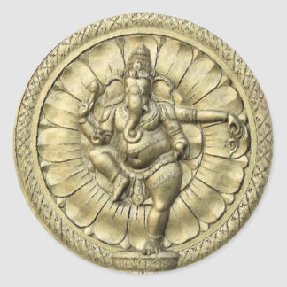 Shree Ganesh Classic Round Sticker