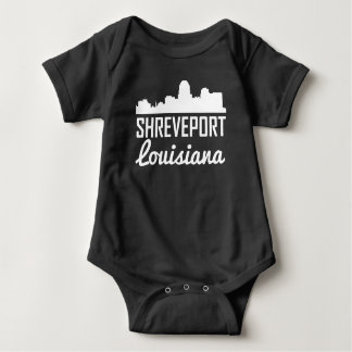 Shreveport Louisiana Skyline Baby Bodysuit