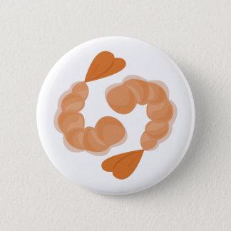 Shrimp 6 Cm Round Badge