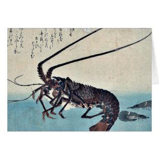 Shrimp and lobster by Ando, Hiroshige Ukiyoe Card