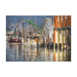 Shrimp Boats. Canvas Print