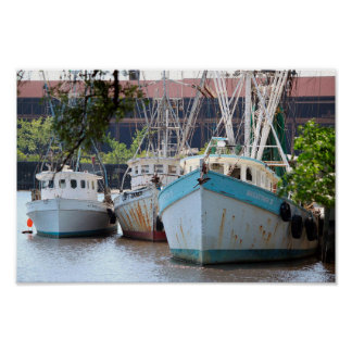 Shrimp Boats of Georgetown Poster