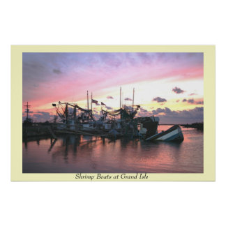 Shrimp Boats st Grand Isle Poster