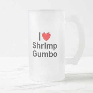 Shrimp Gumbo Frosted Glass Beer Mug