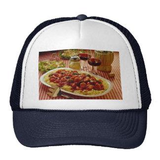 Shrimp marinara dinner mesh hat