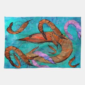 Shrimp party kitchen towels