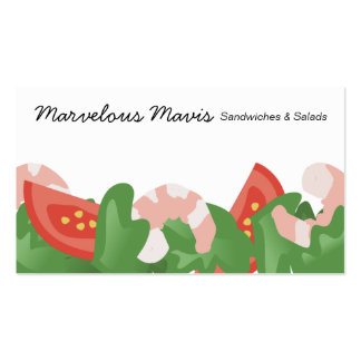 shrimp salad vegetables catering food business ... pack of standard business cards