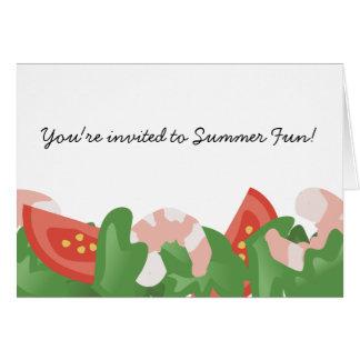 shrimp salad vegetables catering food thank you... greeting card