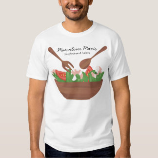 shrimp salad vegetables catering t-shirt kitche...