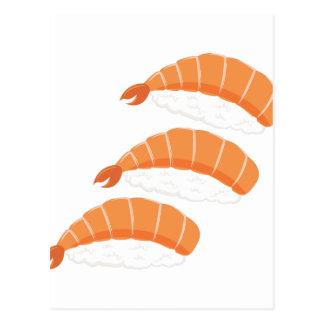 Shrimp Sushi Postcard