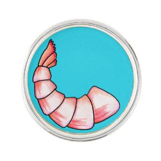 Shrimp tail lapel pin