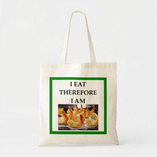 shrimp tote bag