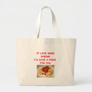 shrimp valentine canvas bags