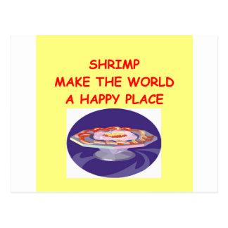 shrimps postcard