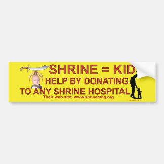 SHRINE HOSPITALS BUMPER STICKER