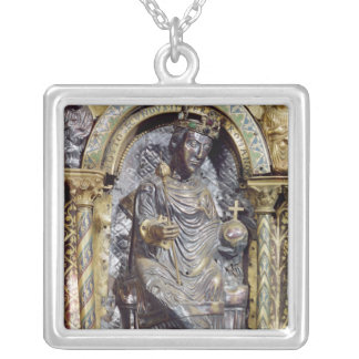 Shrine of Emperor Charlemagne Square Pendant Necklace