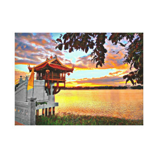 Shrine on The Lake Canvas Print