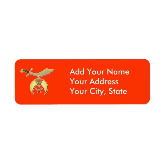 Shriners Avery Label packs Return Address Label