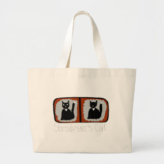 Shrodinger Cat Science Cartoon Jumbo Tote Bag