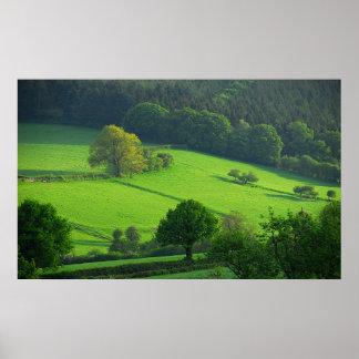 Shropshire Hills Poster