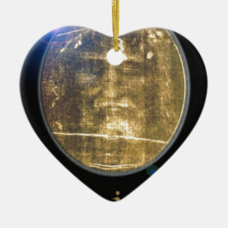 Shroud of Turin Designs on products Ceramic Heart Decoration