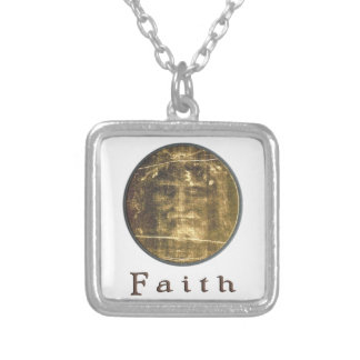 Shroud of turin designs silver plated necklace