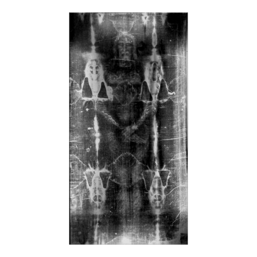 Shroud of Turin, Frontal View Negative Poster