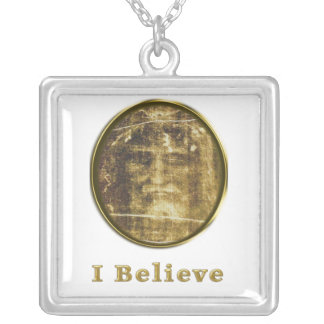 shroud of turin silver plated necklace
