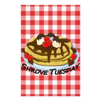 Shrove Tuesday - pancakes Custom Stationery