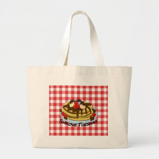 Shrove Tuesday - pancakes Large Tote Bag