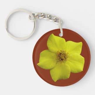 Shrubby Cinquefoil #1 Double-Sided Round Acrylic Key Ring