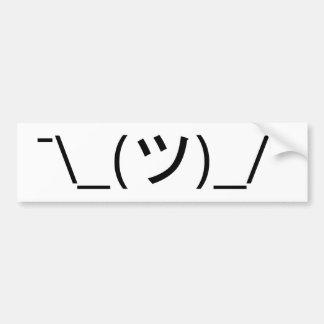 Shrug Emoticon ¯\_(ツ)_/¯ Japanese Kaomoji Bumper Sticker