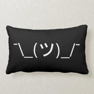 Shrug Emoticon ¯\_(ツ)_/¯ Japanese Kaomoji Cushions