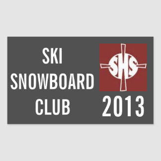 SHS Ski Club Sticker
