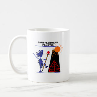 Shuffleboard Fanatic Basic White Mug