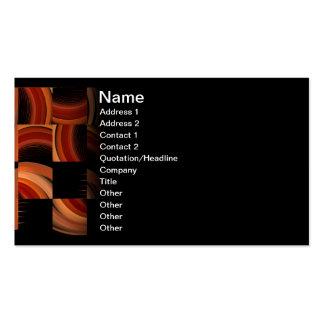 Shuffled Fractal Abstract Art Business Card Template