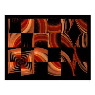 Shuffled Fractal Abstract Art Postcards