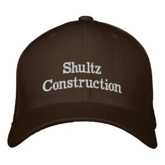 Shultz Construction ebroidered hat Embroidered Hat