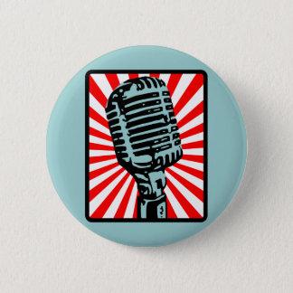 Shure 55S Vintage Microphone 6 Cm Round Badge