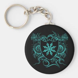Shuriken Dragons Basic Round Button Key Ring