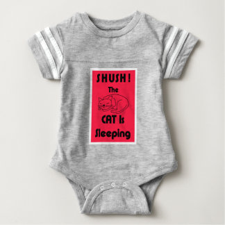 SHUSH! The Cat Is Sleeping Baby Bodysuit