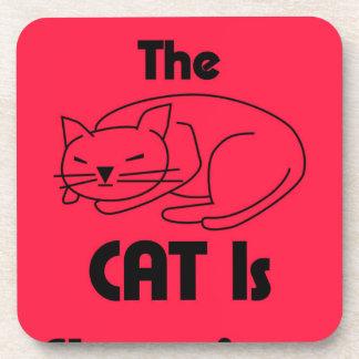 SHUSH! The Cat Is Sleeping Coaster