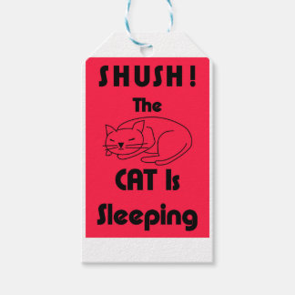 SHUSH! The Cat Is Sleeping Gift Tags