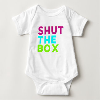 Shut The Box Logo Baby Bodysuit
