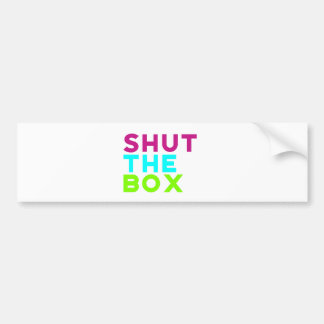 Shut The Box Logo Bumper Sticker